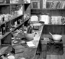 The Apothecary (HDR) B&W by Stephen Knowles