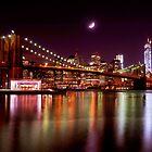 New York City Skyline from Brooklyn Bridge Park by Mitchell Grosky