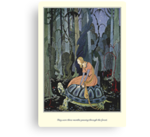 Old French Fairy Tales: Through the Forest Canvas Print