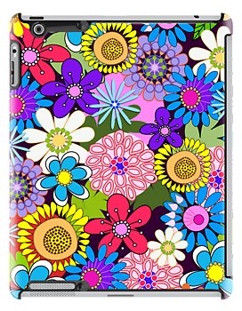 Cute retro flowers case by walstraasart