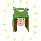 Self Portrait in Frog Hat by Sophie Corrigan