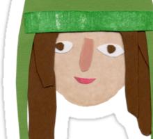 Self Portrait in Frog Hat Sticker