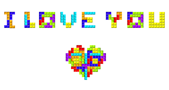 Tetris Love by Waconer