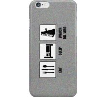 Eat Sleep Watch Doctor Who iPhone Case/Skin