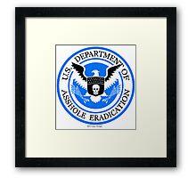 United States Department of Asshole Eradication Framed Print