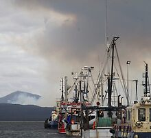 seascapes #287, smoke over  fleet by stickelsimages