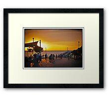 Sunset Henley Beach 2, South Australia Framed Print