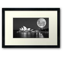 Full moon over Sydney Opera House - Australia Framed Print