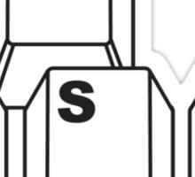 WASD Sticker