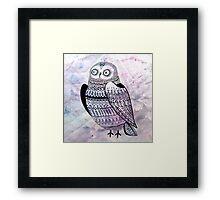 graphic owl Framed Print