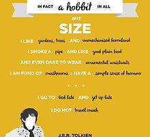J.R.R. Tolkien Quote Art - 'I am in fact a hobbit' by gryffindor