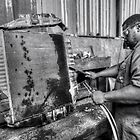 Welding work at the radiator shop... by 242Digital