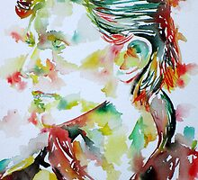 DAVID BOWIE - watercolor portrait.2 by lautir