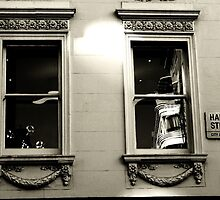 Dressed windows in Half moon street  by Debra Kurs