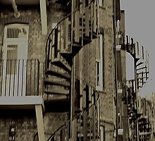 Spiral staircases in Muswell Hill  by Debra Kurs