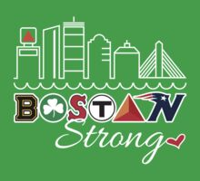 BOSTON Strong Skyline by WickedCool
