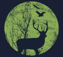 Stag Night (green) by modernistdesign