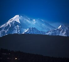 Mount Baker at Night by Jim Stiles