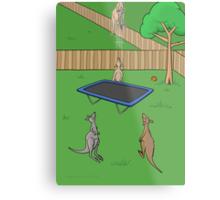 Kangaroo Trampoline Bounce Metal Print