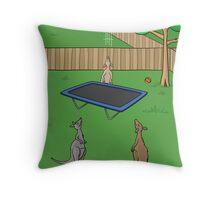 Kangaroo Trampoline Bounce Throw Pillow