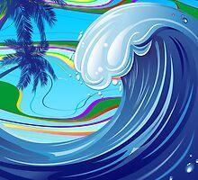 Sea Ocean big Wave Water  by BluedarkArt
