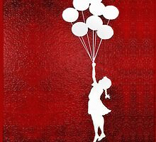 Banksy the balloon girls - iPhone 5, iphone 4 4s, iPhone 3Gs, iPod Touch 4g case by pointsalestore Corps