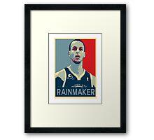 Stephen Curry - Rainmaker Framed Print