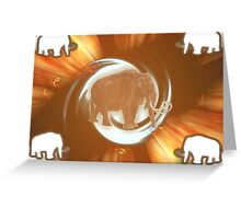 Wooly Mammoth Whirlwind Greeting Card