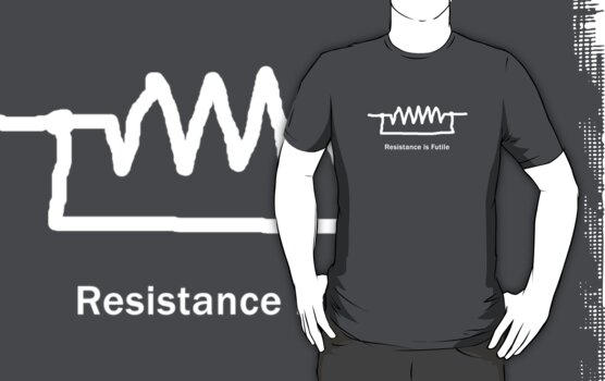 Resistance is Futile - Geeky Tee by BlueShift