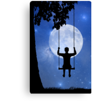 Childhood dreams, The Swing Canvas Print