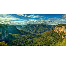 Majesty - Govetts Leap, Blackheath NSW, Blue Mountains World Heritage Area - The HDR Experience Photographic Print