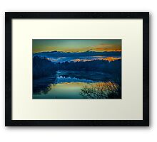 The end of a blue day Framed Print