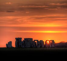 Stonehenge Sunset by Simon West
