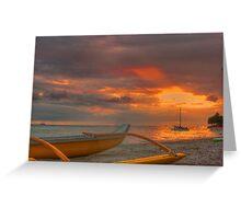 Waikiki Beach sunset Greeting Card