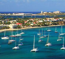 Marigot Harbor Waterfront, St. Martin by Roupen  Baker