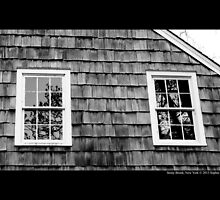 Old Grist Mill Windows - Stony Brook, New York by © Sophie W. Smith