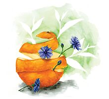 Earl Grey (with blue cornflower and orange peel) by Becky Moran
