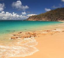 Happy Bay Beach, St. Martin by Roupen  Baker