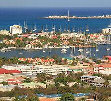 Simpson Bay Waterfront Vista, St. Maarten by Roupen  Baker