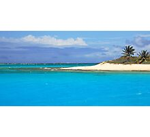 Sandy Island Beach and Turquoise Sea  Photographic Print