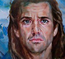 Mel Gibson in Brave heart by Hidemi Tada