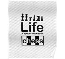 Chess v Life - White Graphic Poster
