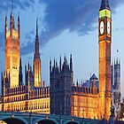 London - Parliament and Big Ben by skyeaerrow