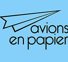 Paper Planes Sky Blue Cards & Prints by M  Bianchi