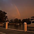 Sunset, Storm, and Rainbow by bazcelt