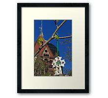 Hope blooms in Copley Square Framed Print