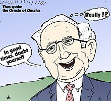 Warren Buffet Cartoon Doubt Yourself by Binary-Options