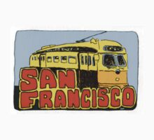 Travel sticker: San Francisco Street car by Joel Tarling