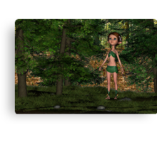 Forest Elf Girl Canvas Print