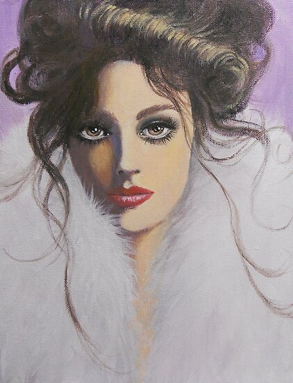 LADY IN A WHITE FUR by Dian Bernardo